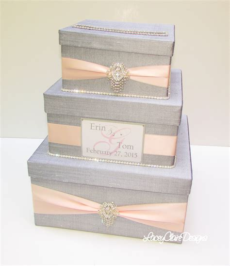 Gift Card Holder Box - wedding gift box card box money holder envelope reception