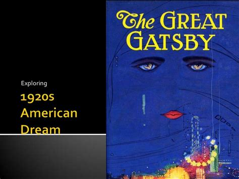the great gatsby 1920 s america ppt download 1920s american dream