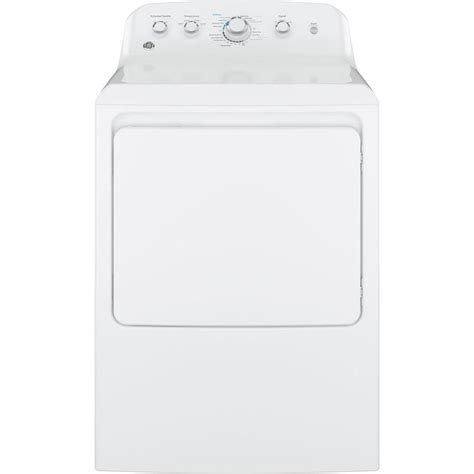 ge 6 2 cu ft gas dryer in white gtx42gasjww the home depot