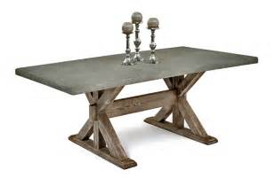 dining table with concrete top woodland creek furniture