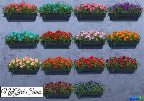 Sims 3 Planter Box by Nygirl Sims 4 Neighborly Windowbox Recolors