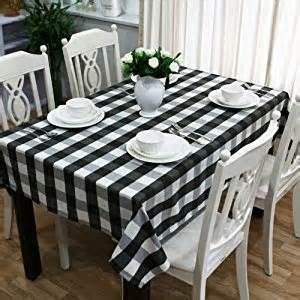 amazon com black and white gingham tablecloth