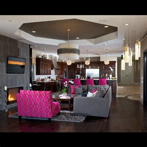 black and pink living room 10 best fuschia navy blue gray living room ideas images