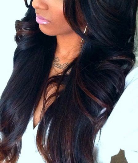 highlight colors for black hair rich black hair color with brown highlights hair