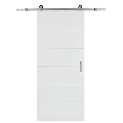masonite 30 in x 84 in melrose solid core primed composite interior barn door slab with