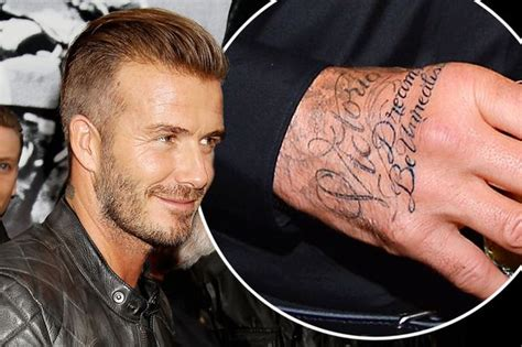 david beckham tattoo on his hand david beckham is a huge fan jay z and beyonce