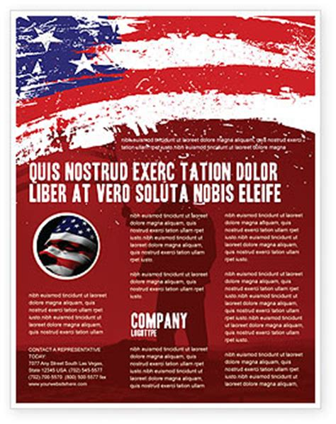 American Flag Flyer Template