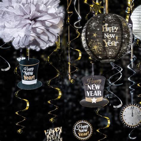 buy new year decorations uk new year by partyware delivered direct to your