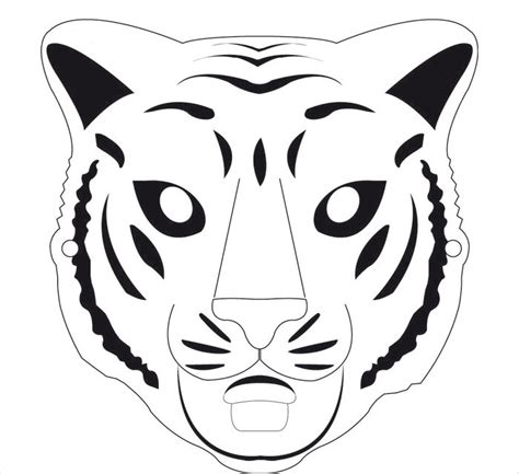 tiger mask coloring page tiiger clipart tiger mask pencil and in color tiiger