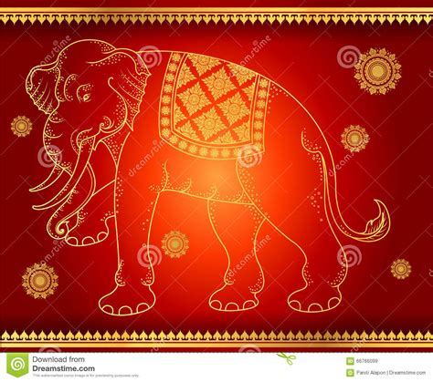 illustrator pattern to outline pattern background elephant outline thai tradition stock