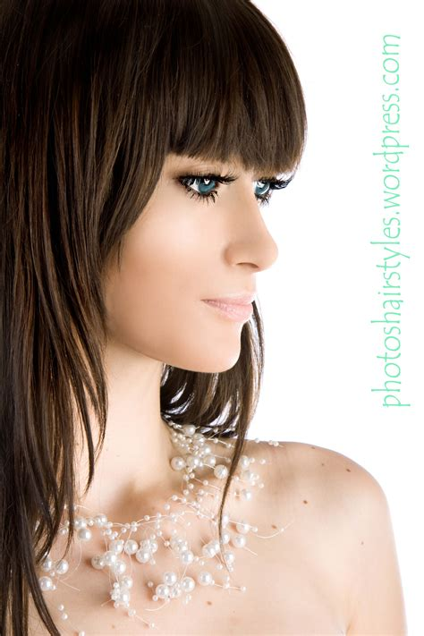 womens mid length sculptured hair styles long bang hairstyle trends women hairstyle trends