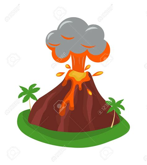 clipart volcano volcano clipart eruption pencil and in color volcano