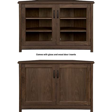 corner media cabinet with doors corner media cabinet crate and barrel woodworking