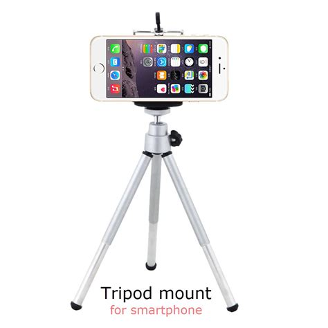 Tripod Mini Holder U Silver Gratis Paket Hadiah universal mini 360 rotating stand tripod mount bracket phone holder palo selfie for iphone 4 4s