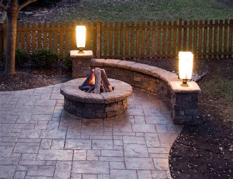 Inspired Sted Concrete Patio Method Kansas City Patio Ideas With Firepit
