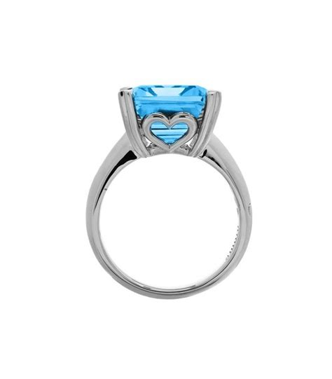 emerald cut 13ct blue topaz ring sterling silver amoro