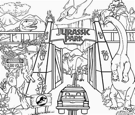 coloring pages of jurassic world coloriage jurassic park lego world dessin