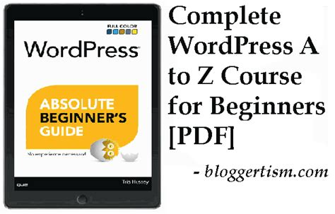 wordpress tutorial for beginners pdf download free download complete wordpress course for beginners pdf
