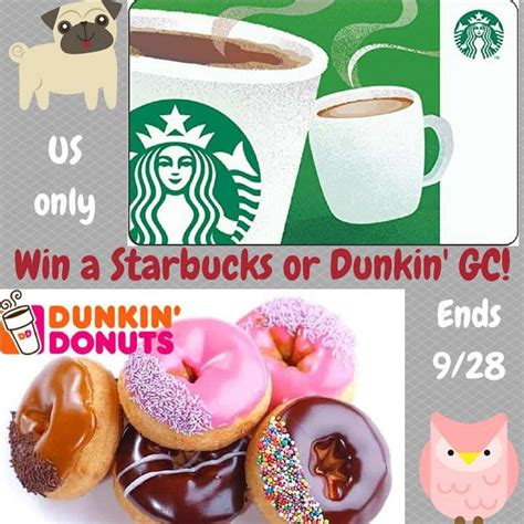Dunkin Donuts E Gift Card - celebrate national coffee day with your own starbucks or dunkin donuts gift card