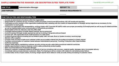 Administrative Manager Description by Administrative Manager Descriptions Sles
