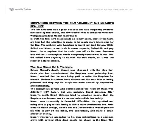 mozart a documentary biography pdf comparison between the film amadeus and mozart s real