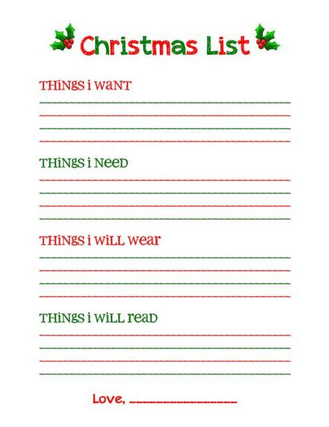 printable xmas list printable christmas list new calendar template site