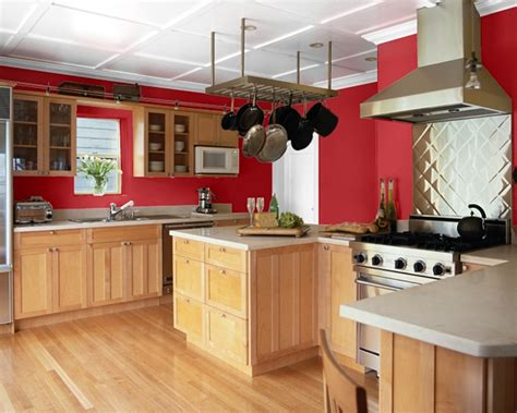 Red Painted Kitchen Cabinets by Making Your Home Sing Red Paint Colors For A Kitchen