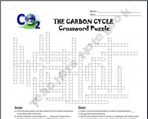 section 3 3 cycles of matter answers the carbon cycle crossword earth science pinterest