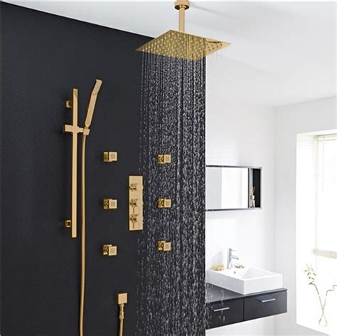 Shower And Jets by Gold Shower Set With Jet