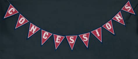 printable concessions banner vintage baseball birthday party decorations 505 design inc