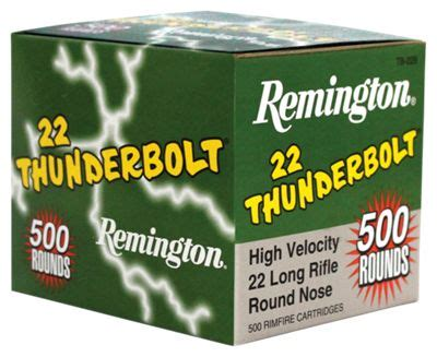 remington thunderbolt 22 ammo remington thunderbolt 22 lr rimfire ammo bass pro shops