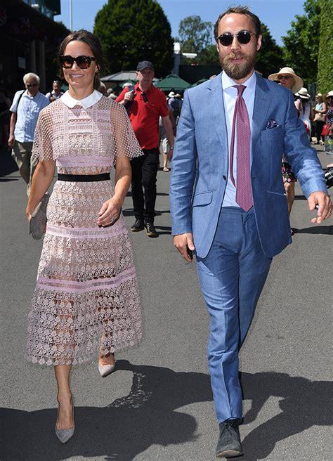 pippa middleton with her husband at wimbledon in london pippa middleton arrives without her husband at wimbledon