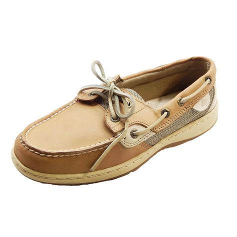 sperry top sider bluefish 2 eye womens linen oat boat shoes