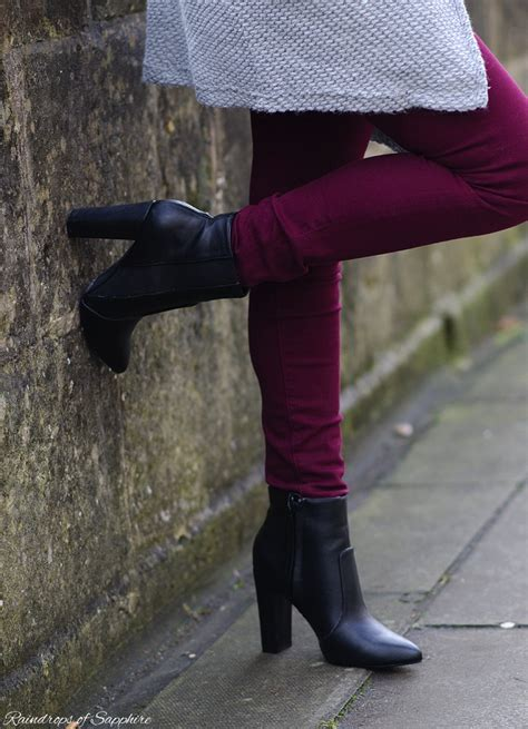 new look black heeled boots raindrops of sapphire