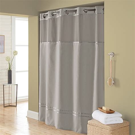hookless fabric shower curtain liner buy hookless 174 escape 71 inch x 74 inch fabric shower