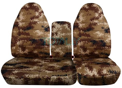digital camo seat covers f150 1996 2003 ford f 150 40 60 camo truck seat covers console