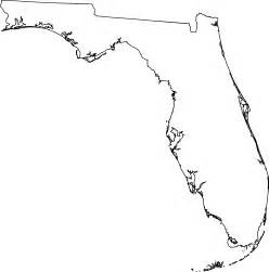 florida outline map with cities
