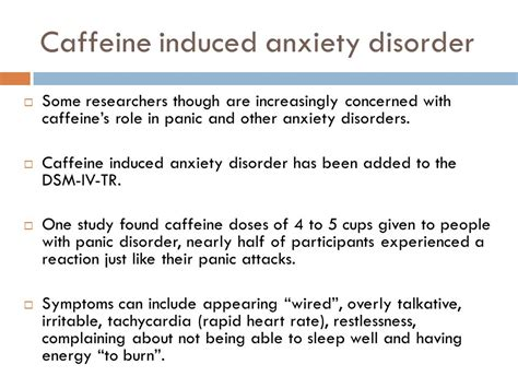 Caffeine Detox Panic Attacks by Phobias An Exle Of An Anxiety Disorder Ppt