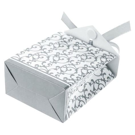 silver wedding favor bags 100pcs silver wedding favour favor boxes sweet cake bags