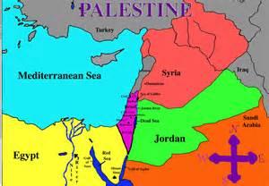 map of palestine