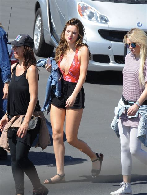 young candid 2016 bella thorne on the set of you got me in santa monica 04
