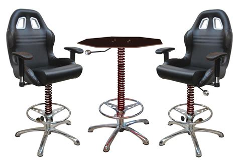 3 black automotive bar furniture