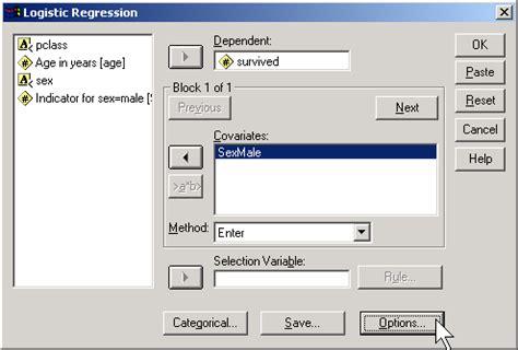 spss tutorial multinomial logistic regression binary logistic regression spss odds ratio