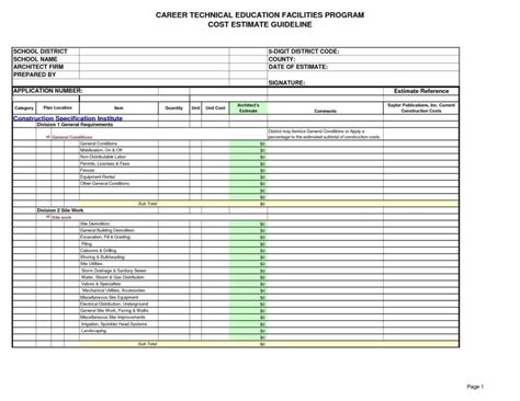 Excel Estimate Template Construction by Excel Estimating Templates And Free Printable Estimate