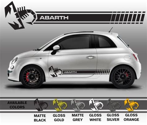 fiat abarth stickers professionally made fiat 500 abarth decals scorpion by