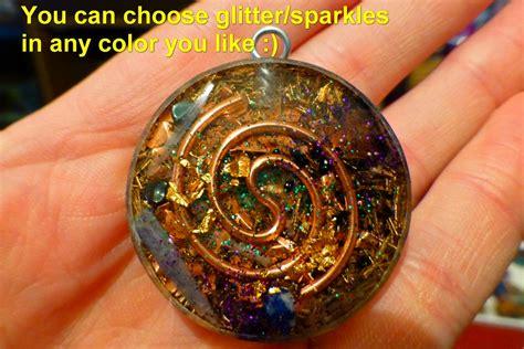 Infinity Pendant Orgonite space encoded with vesica pisces fibonacci infinity and 7 chakra s orgone pendant