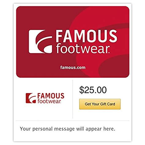 Amazon Com Gift Cards E Mail Delivery - famous footwear gift cards e mail delivery online shopping rocks