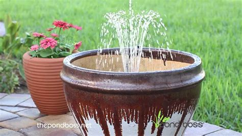 Backyard Ponds Kits Pond Boss 174 Container Fountain Kit Youtube
