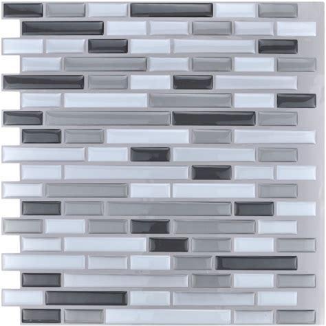 Peel and Stick Tiles Kitchen Backsplash Tiles 12''x12'' 3D