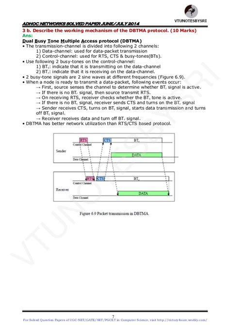 ugc net pattern change from june 2014 vtu 8th sem cse adhoc networks solved papers of june 2014